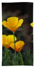Golden Poppies  Hand Towel