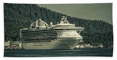 Hand Towel featuring the photograph Golden Princess  by Timothy Latta