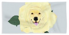 Golden Rose Hand Towel