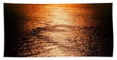 Golden Sea In Alanya Bath Towel