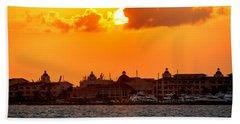 Golden Sky In Cancun Hand Towel