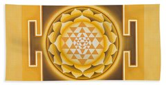 Golden Sri Yantra - The Original Bath Towel