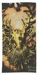 Golden Stag Hand Towel