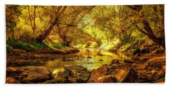 Bath Towel featuring the photograph Golden Stream by Kristal Kraft