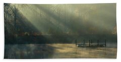Golden Sun Rays Hand Towel by George Randy Bass