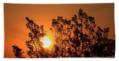 Hand Towel featuring the photograph Golden Sunrise by Angela J Wright