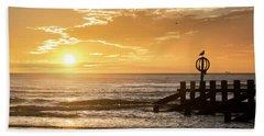 Golden Sunrise At Aberdeen Beach Hand Towel