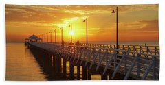 Golden Sunrise Down By The Bay Hand Towel