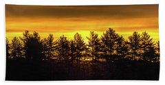 Golden Sunrise Hand Towel