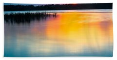 Golden Sunset Hand Towel by Parker Cunningham