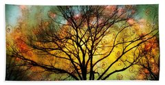Golden Sunset Treescape Bath Towel by Barbara Chichester