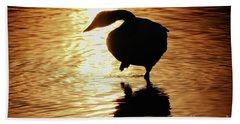 Golden Swan Hand Towel