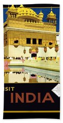 Golden Temple Amritsar India - Vintage Travel Advertising Poster Bath Towel