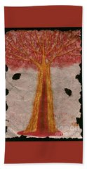 Golden Trees Crying Tears Of Blood Hand Towel