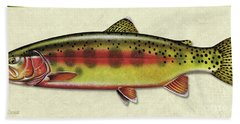 Golden Trout Id Bath Towel