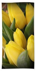 Golden Tulips Bath Towel