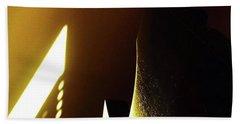 Golden Wall, Morning Sun, Reflection Hand Towel