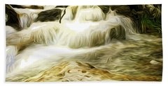 Golden Waterfall Bath Towel