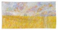 Golden Wheat Field Bath Towel
