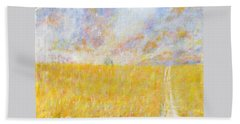 Golden Wheat Field Bath Towel