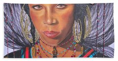 Gracious Golden Wodaabe Girl           From The Attitude Girls  Hand Towel