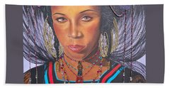 Golden Wodaabe Girl Bath Towel by Sigrid Tune