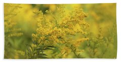 Bath Towel featuring the photograph Goldenrod Dream by Rachel Cohen