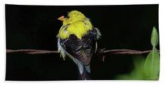 Goldfinch Bath Towel by Ronda Ryan