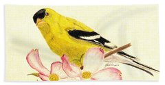Goldfinch Spring Hand Towel