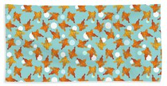 Goldfish And Bubbles Pattern Bath Towel