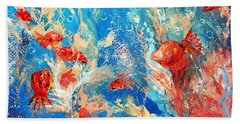 Goldfish Party Hand Towel