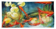 Goldfish Pond Hand Towel
