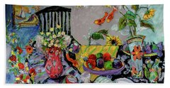Goldfish Rumble Hand Towel by Sharon Furner