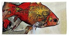 Goldfish Hand Towel by Sarah Loft