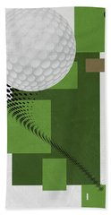 Golf Art Par 4 Hand Towel by Joe Hamilton