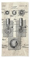 Golf Ball Patent Drawing Vintage 2 Bath Towel