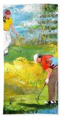 Golf Buddies #2 Bath Towel by Betty M M Wong