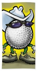 Golf Cowboy Bath Towel