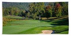 Early Autumn Golf Hand Towel