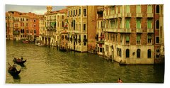 Hand Towel featuring the photograph Gondola Life by Anne Kotan