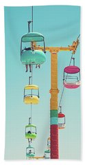 Gondolas - Sky Gliders Santa Cruz California Hand Towel
