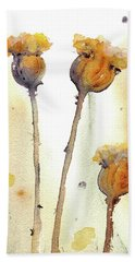 Bath Towel featuring the painting Gone To Seed by Dawn Derman