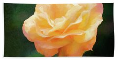 Good As Gold Painted Rose Bath Towel