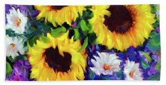 Good Day Sunflowers Bath Towel