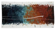 Hand Towel featuring the painting Good Feeling - Abstract Art by Carmen Guedez