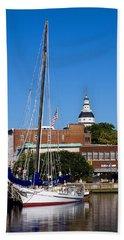 Good Morning Annapolis Hand Towel by Edward Kreis