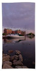 Bath Towel featuring the photograph Good Morning Harbor by Joel Witmeyer