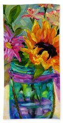 Hand Towel featuring the painting Good Morning Sunshine by Chris Brandley