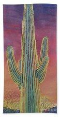 Good Night Cactus Wren Hand Towel