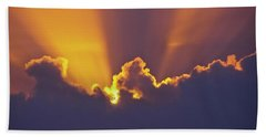 Hand Towel featuring the photograph Good Night Sunshine by Terri Waters